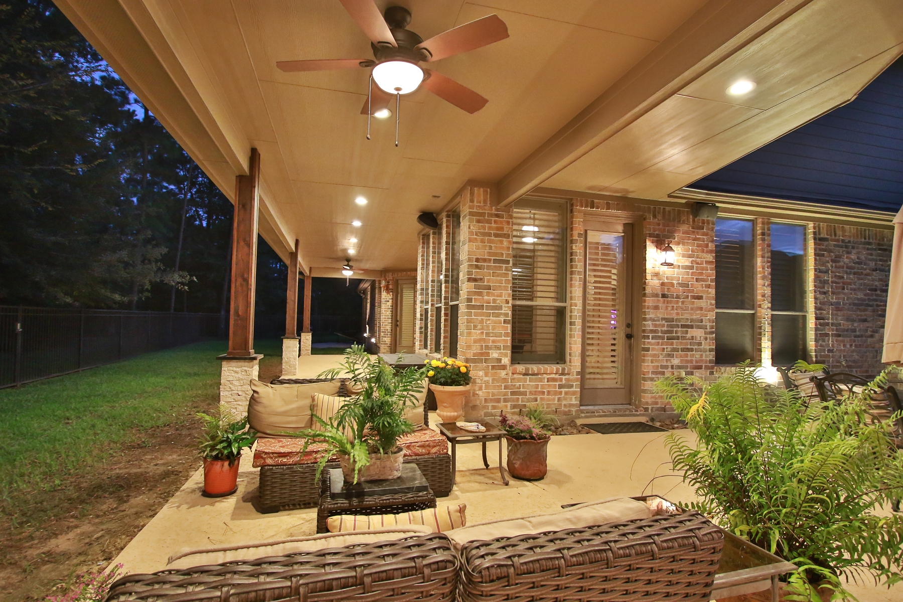 Outdoor Living Area with Covered Patio