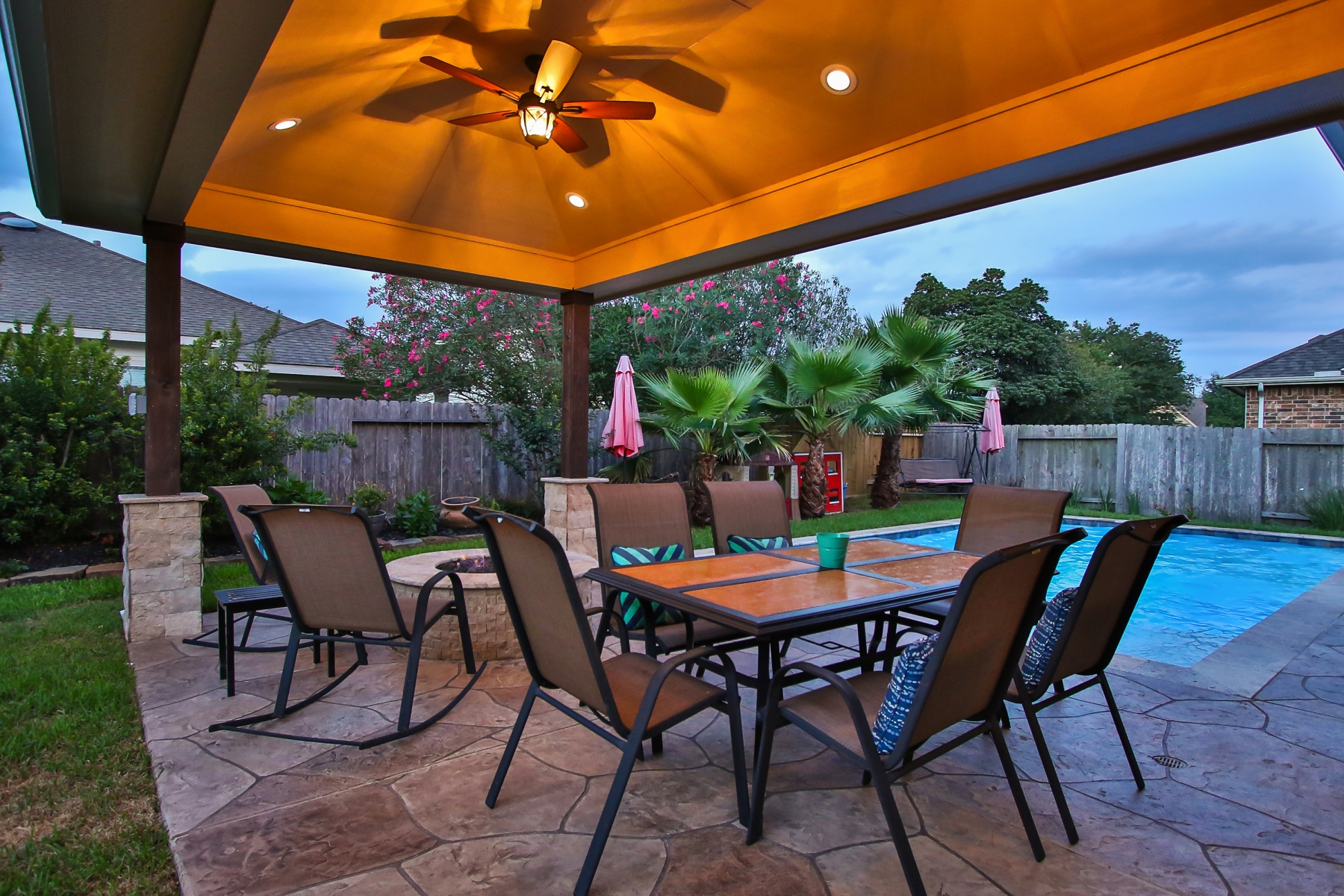 Covered Patio with Dining Area