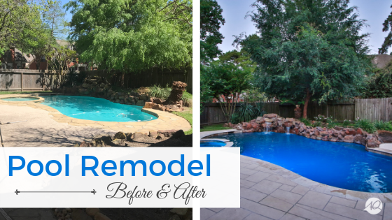 Houston pool remodel, pool remodel before and after, pool remodeling, pool remodeling contractors