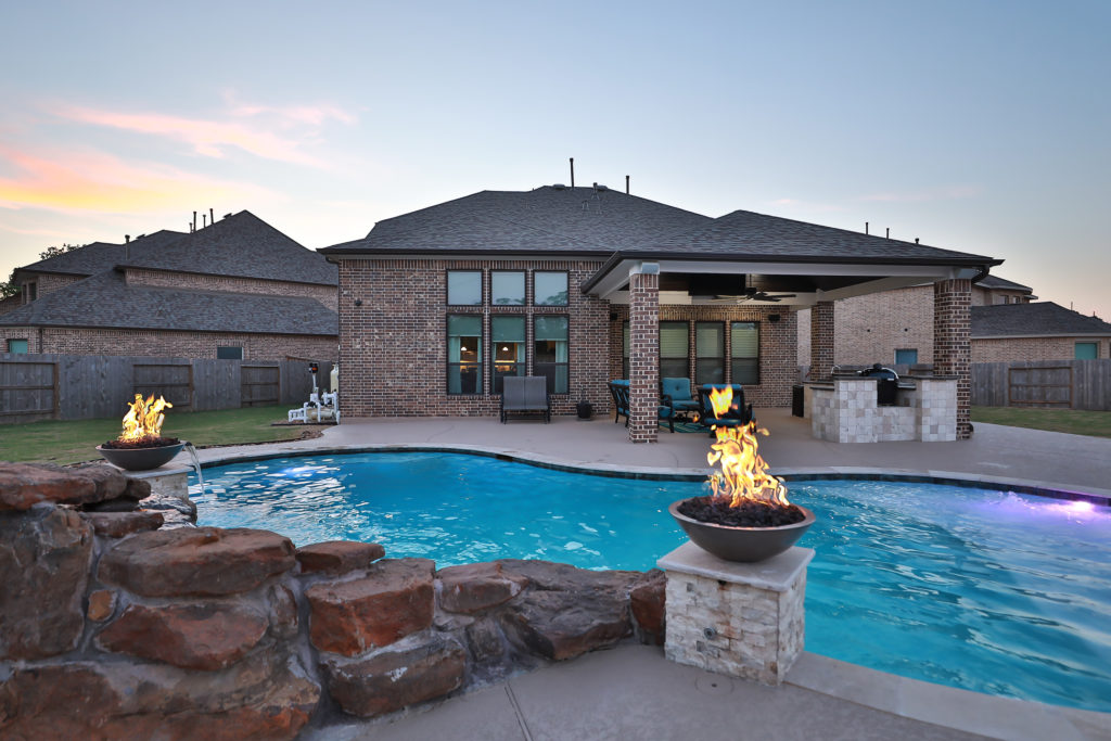 Fire bowls, Water bowls, fire features, fire pits, freeform pool, pool construction, pool design